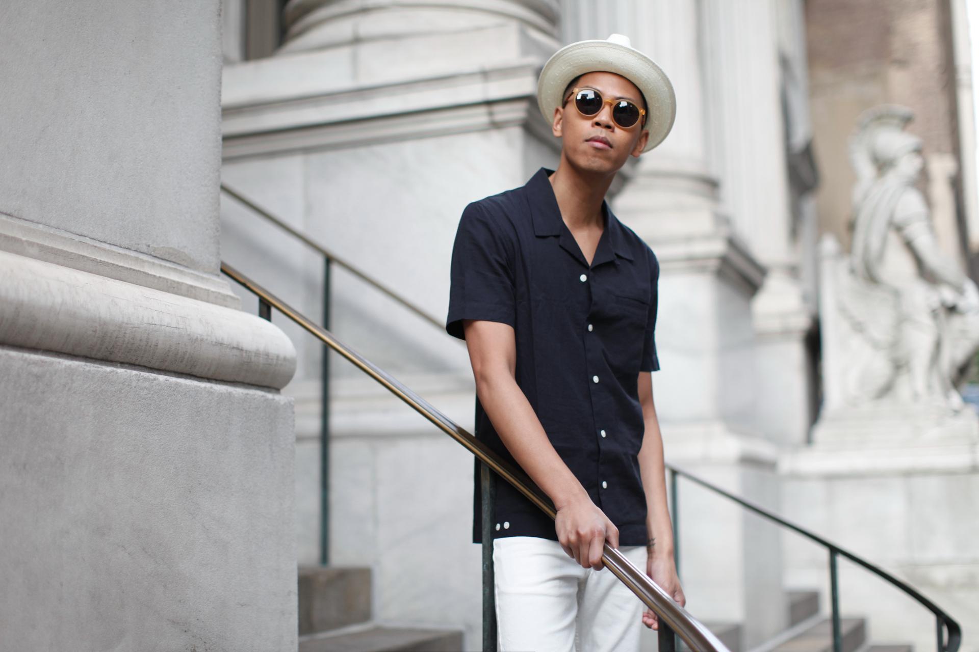 oh anthonio - h&m cuban collar shirt