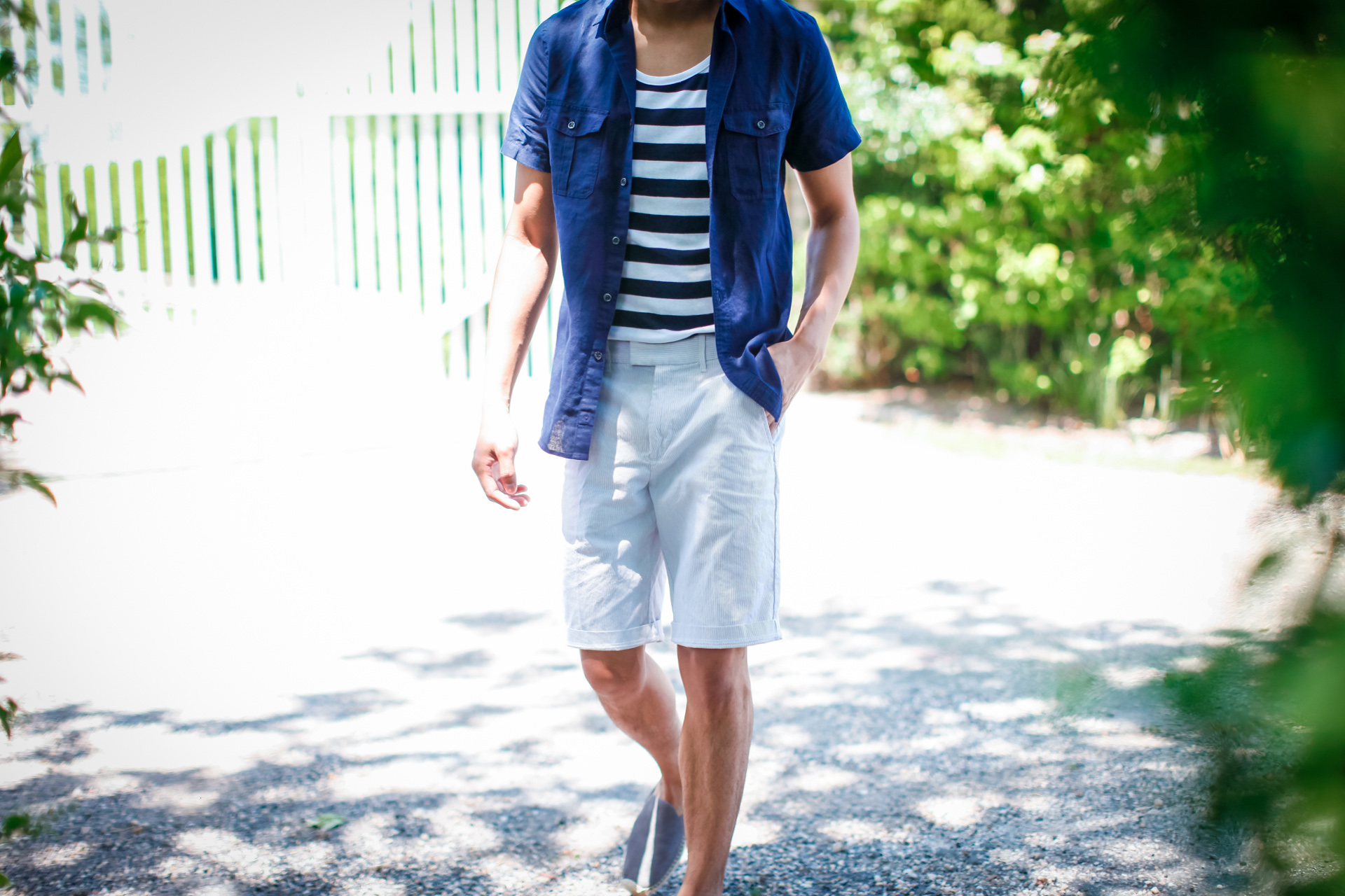 oh anthonio - seersucker and linen nautical outfit