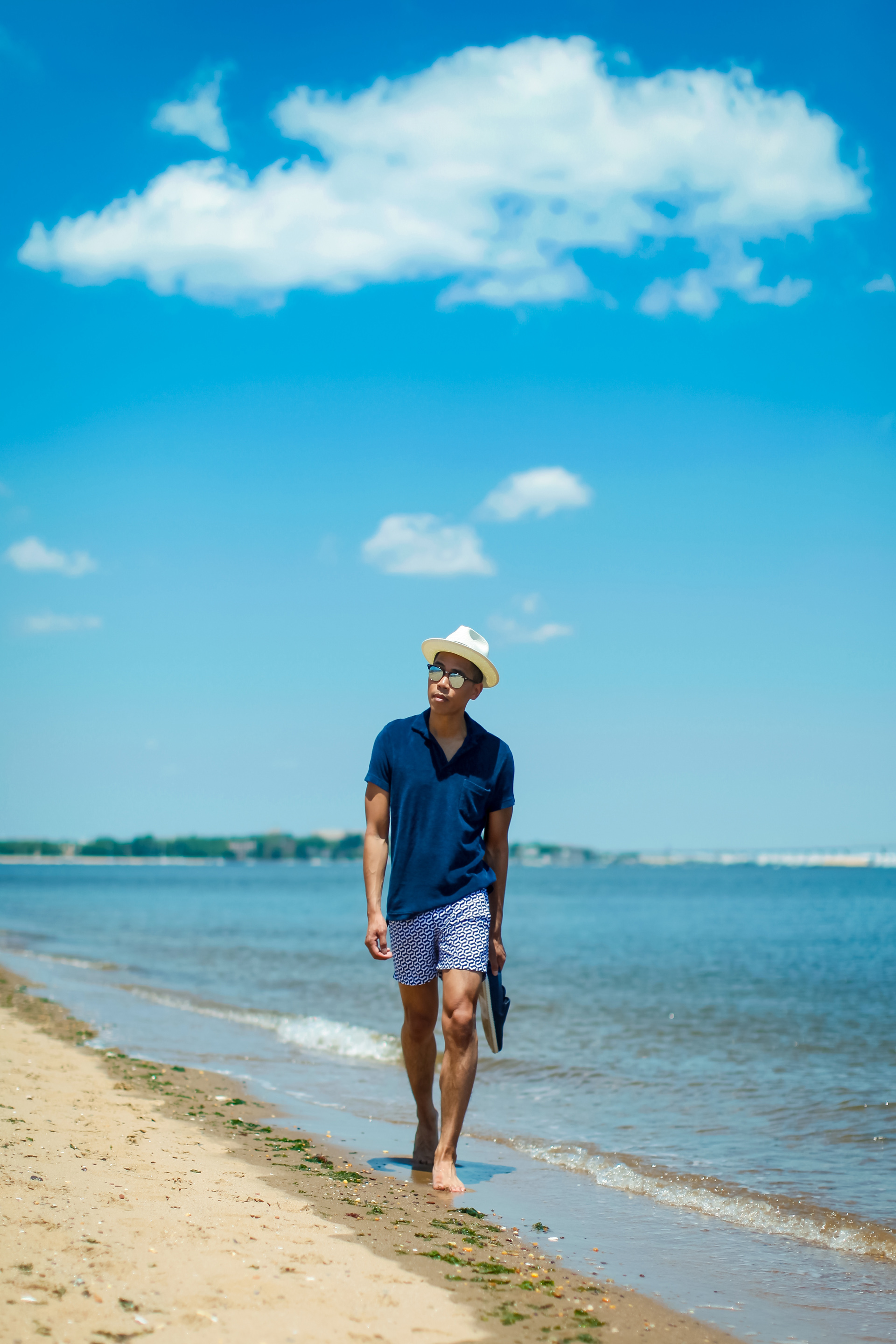 oh anthonio - orlebar brown summer beach outfit