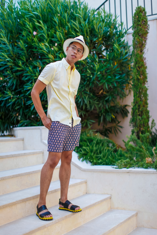 oh anthonio - Anthony Urbano - men's printed swimwear Calvi On The Rocks Corsica France