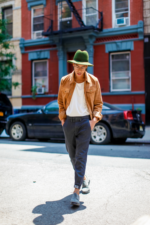 oh anthonio - Anthony Urbano - men's summer suede jacket