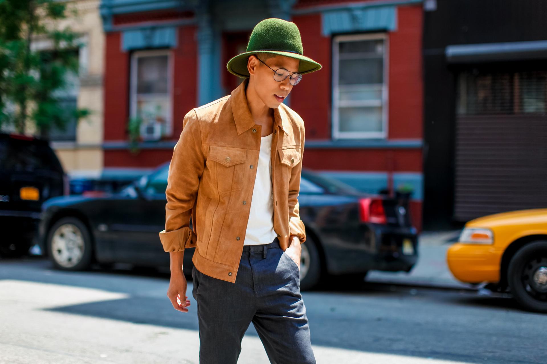 oh anthonio - Anthony Urbano - men's summer suede jacketoh anthonio - Anthony Urbano - men's summer suede jacket