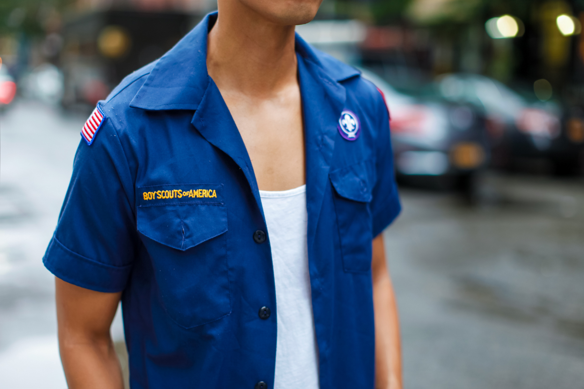 oh anthonio - Anthony Urbano - vintage boy scouts shirt outfit
