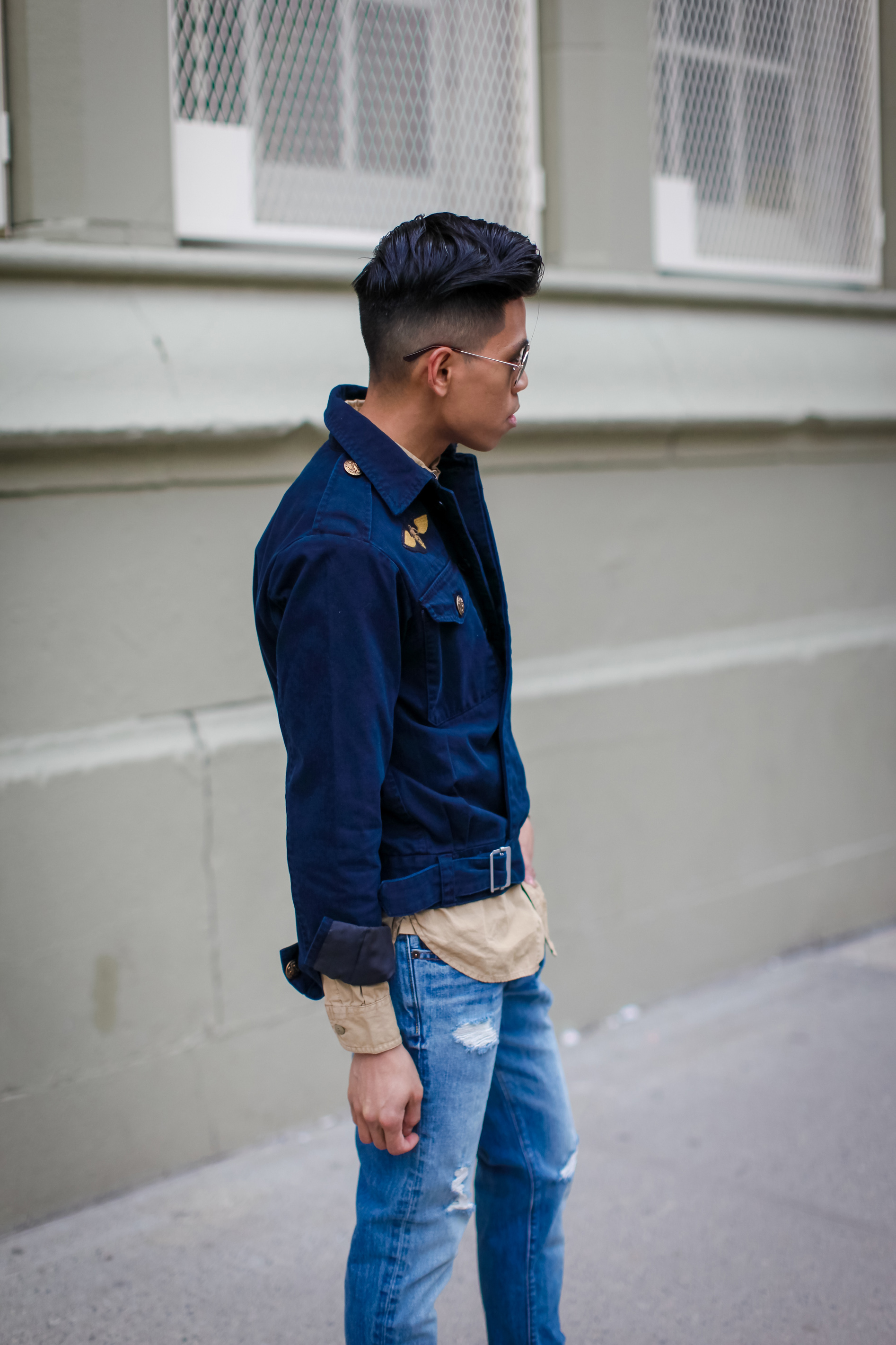 oh anthonio - Anthony Urbano - men's aviator pilot inspired outfit