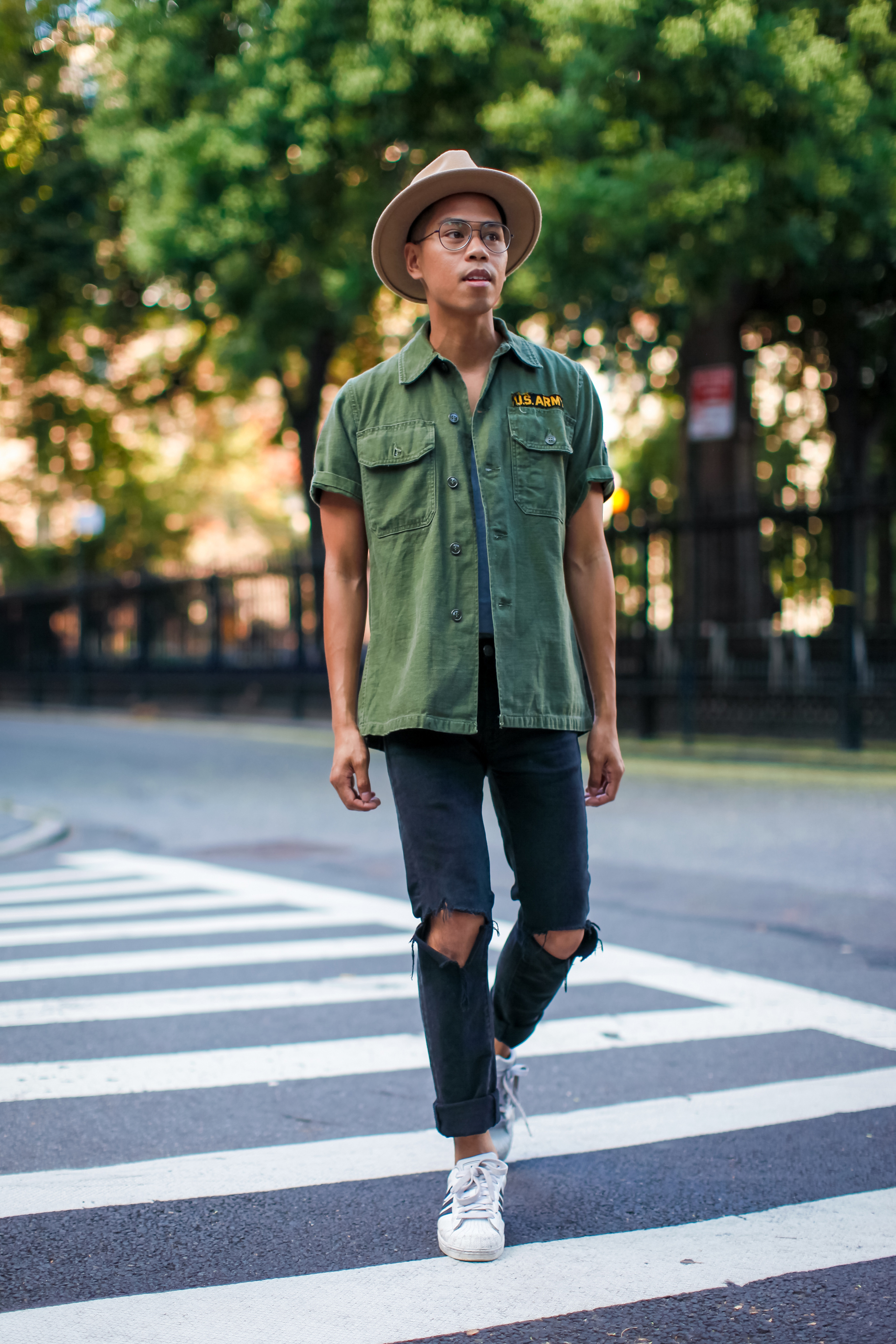 oh anthonio - Anthony Urbano - men's military shirt trend outfit