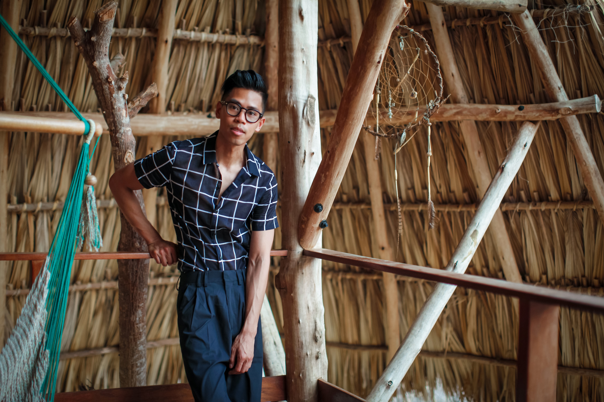 oh anthonio - Anthony Urbano - nicaragua maderas village all black summer outfit
