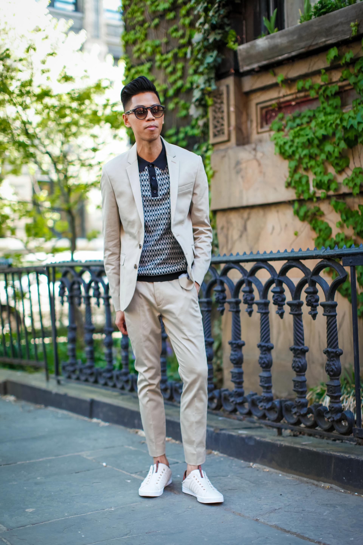 oh anthonio - Anthony Urbano - Express men's khaki suit