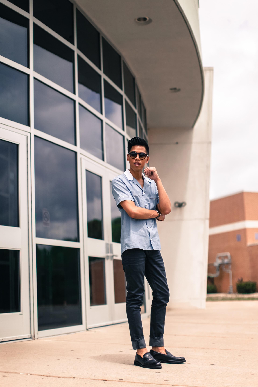 oh anthonio - Anthony Urbano - kitsuné men's bowling shirt retro outfit