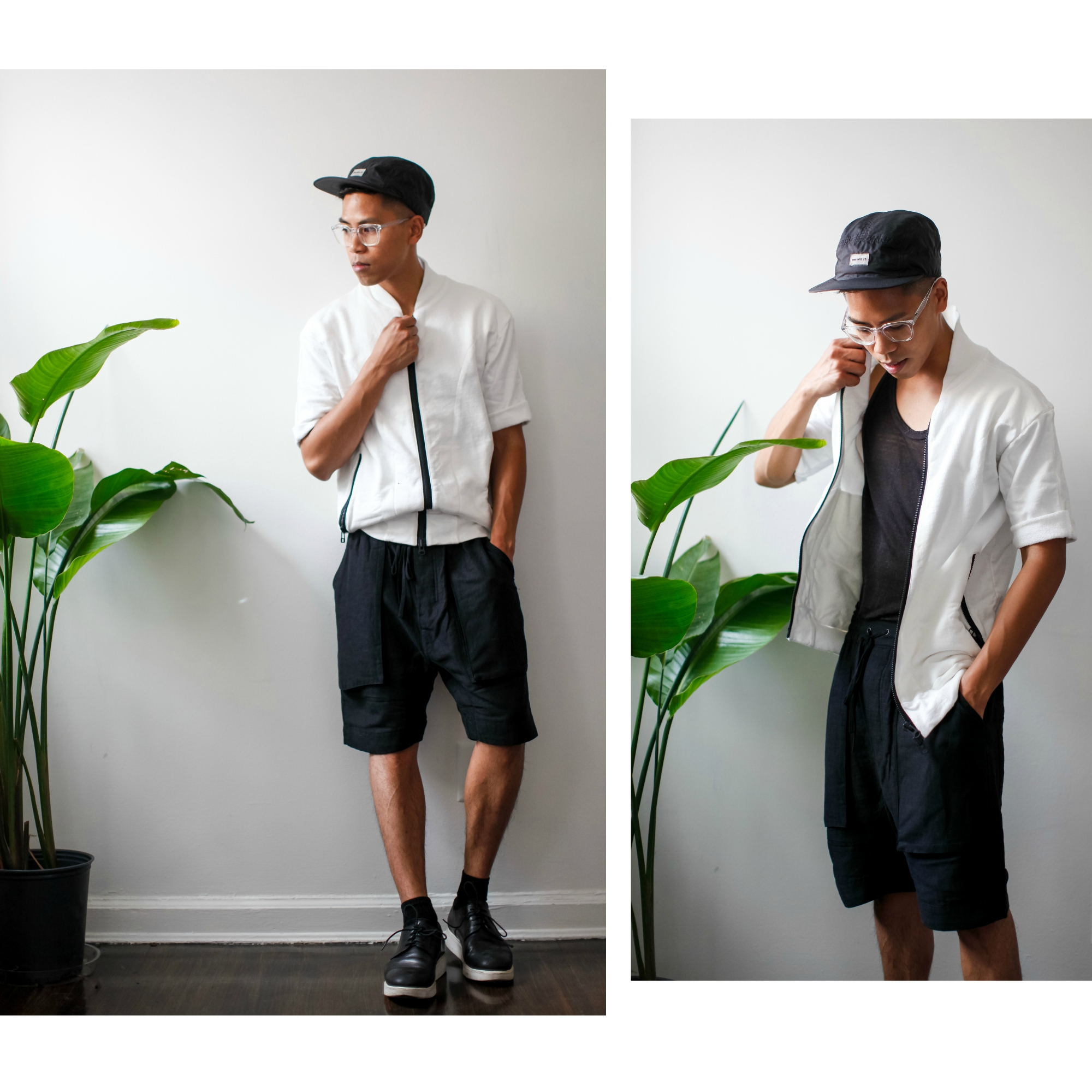oh anthonio - Anthony Urbano - men's black and white outfit streetwear