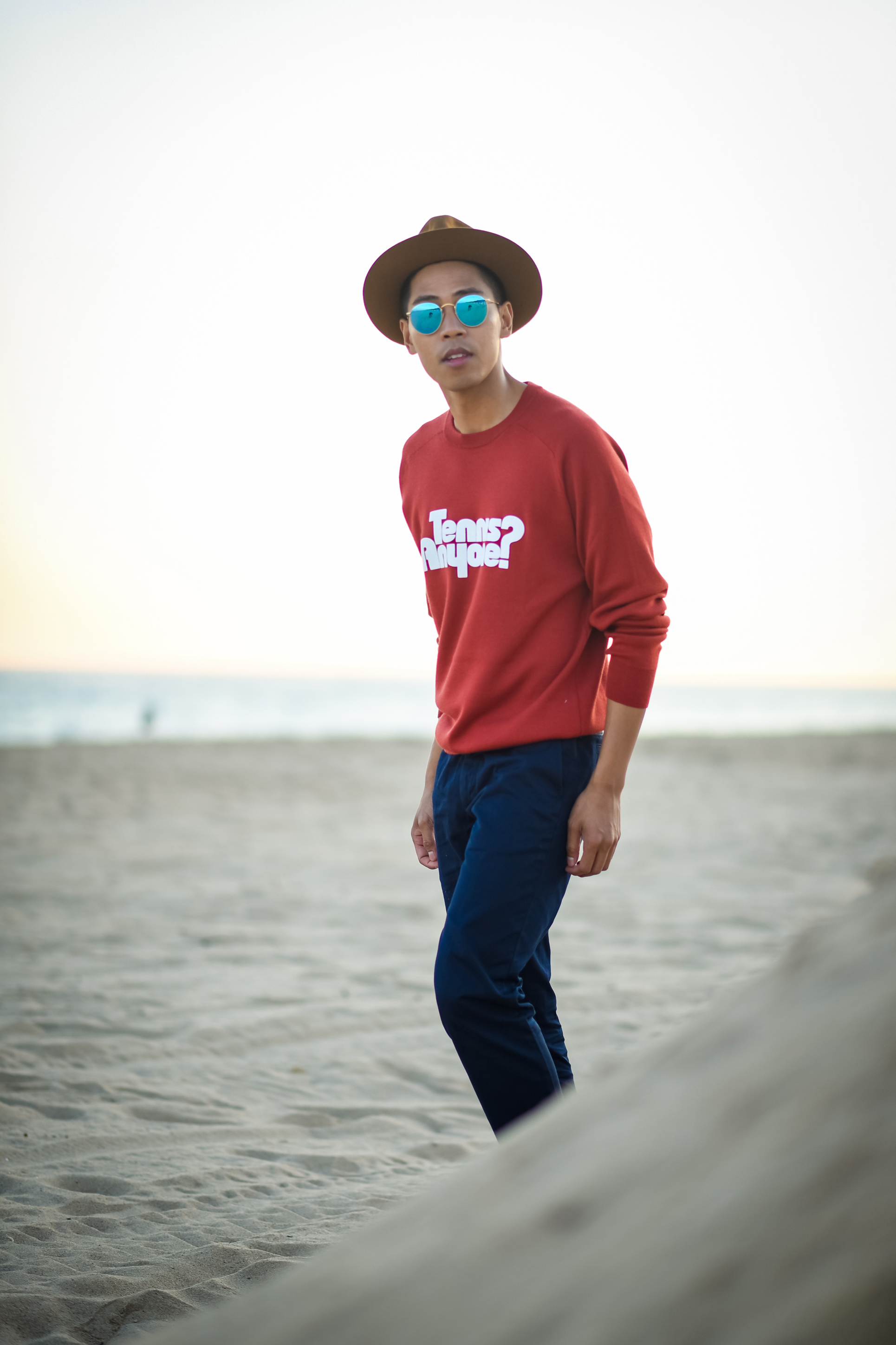 mens crewneck sweater outfit