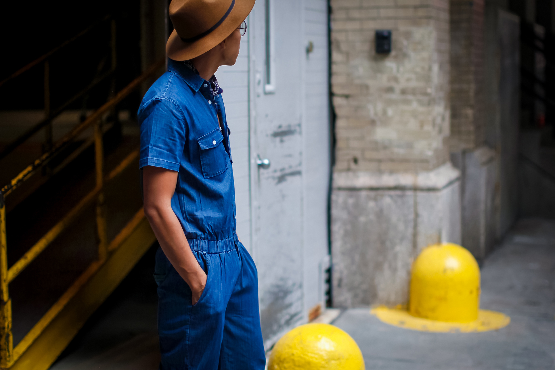 oh anthonio - Anthony Urbano - men's denim jumpsuit street style