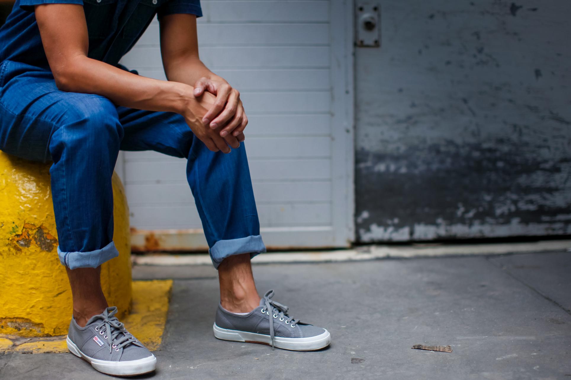 oh anthonio - Anthony Urbano - men's denim jumpsuit street style
