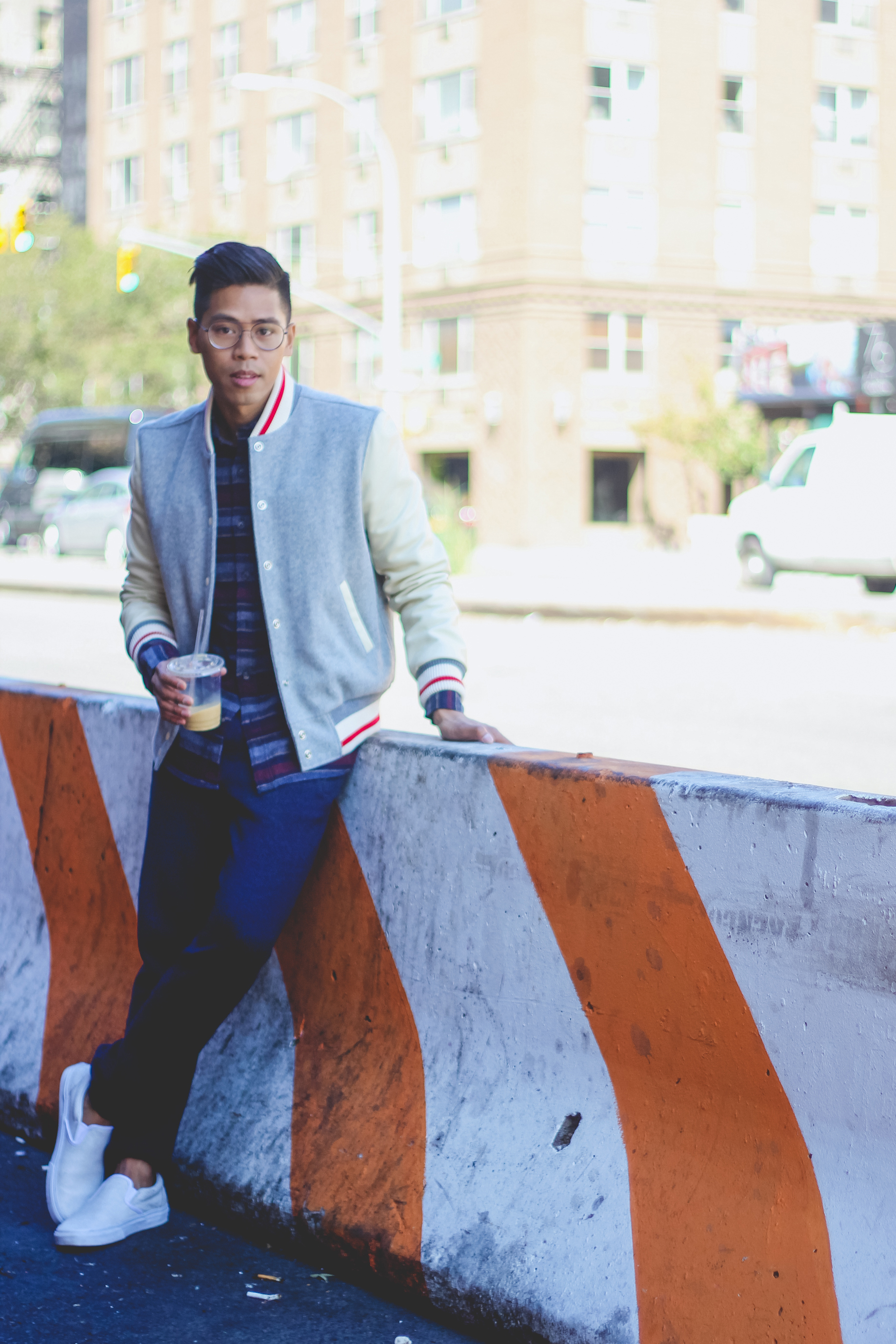 how to wear wool varsity jacket
