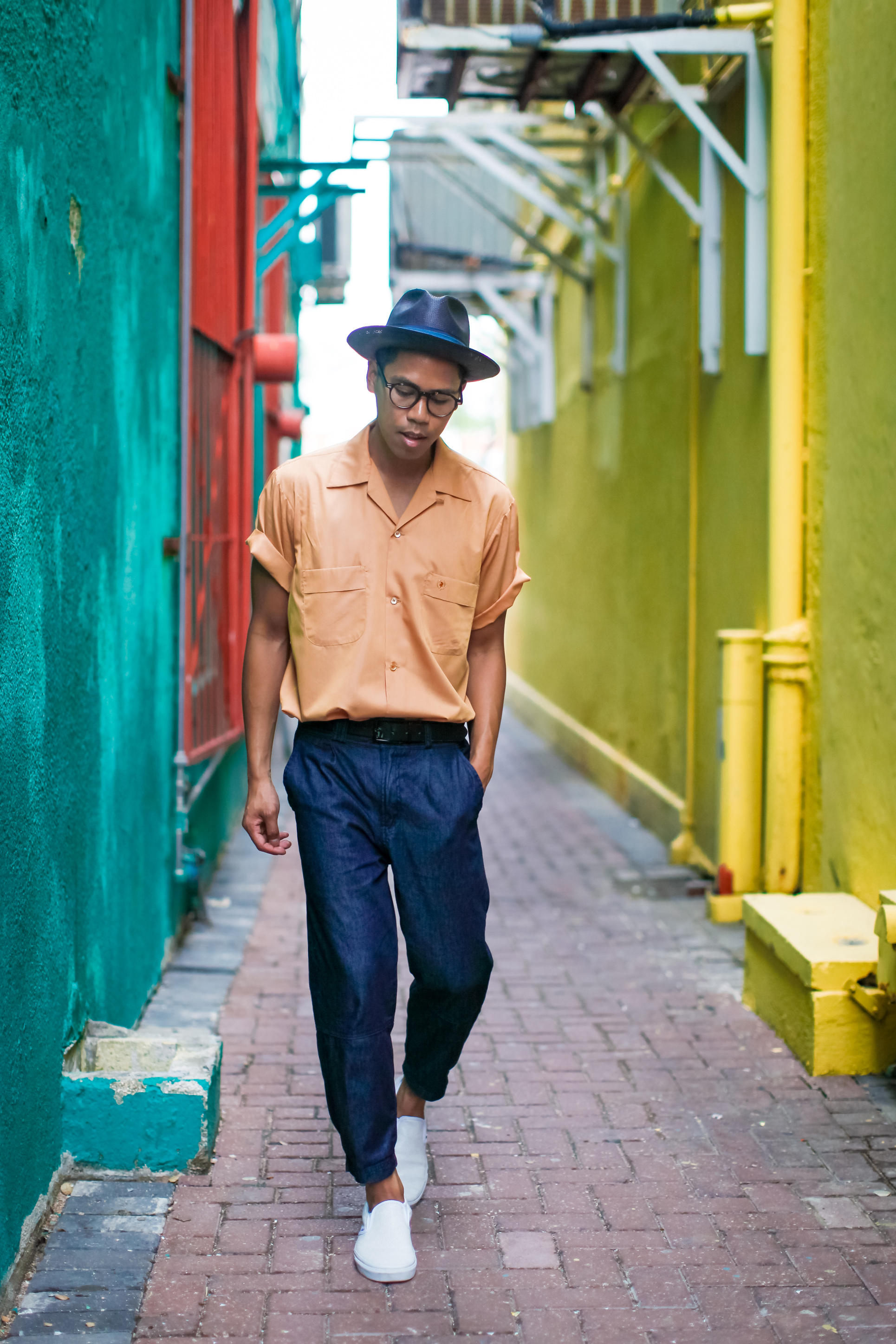mens cropped denim trouser