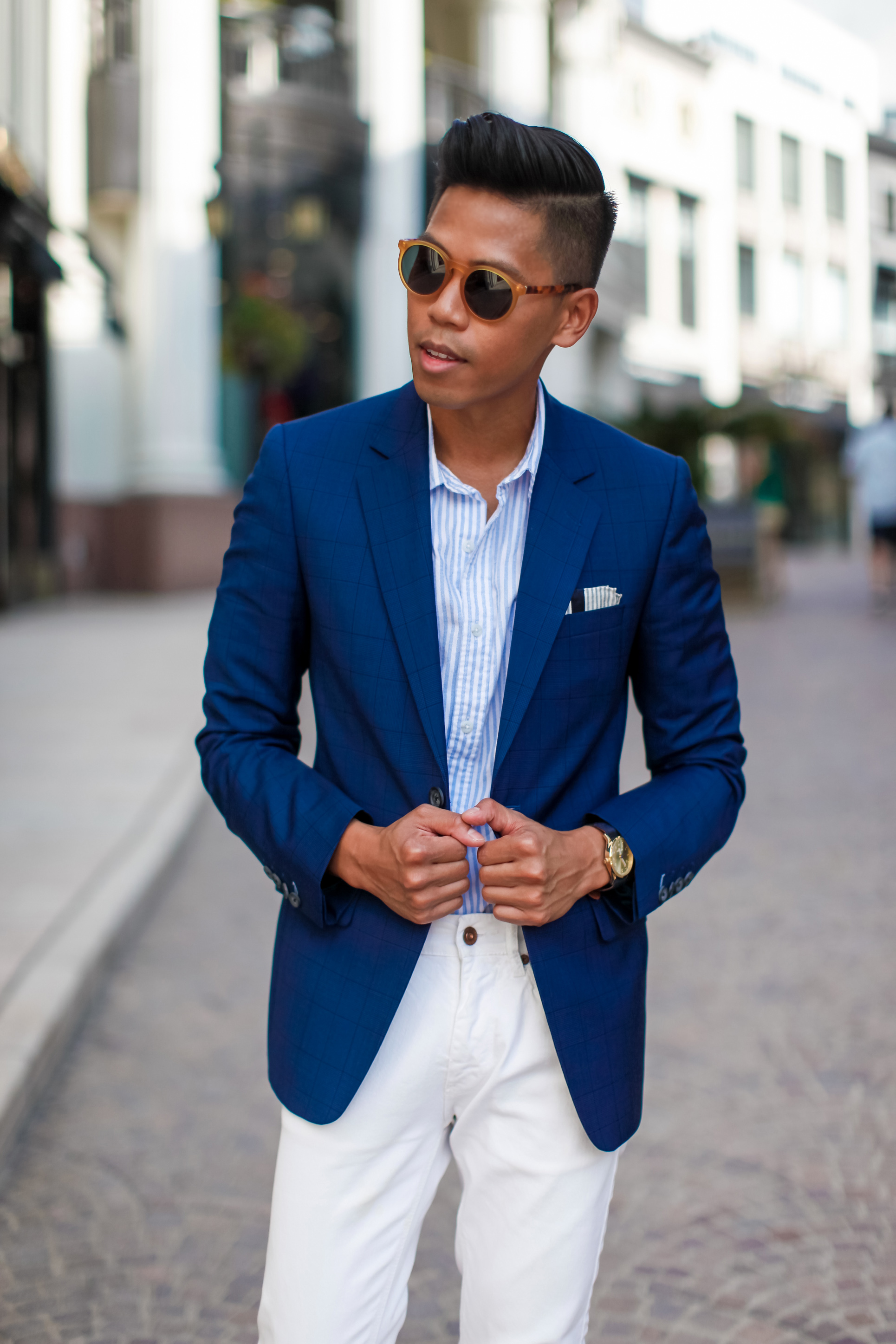 Images of Blue Blazer Outfit Mens - Reikian