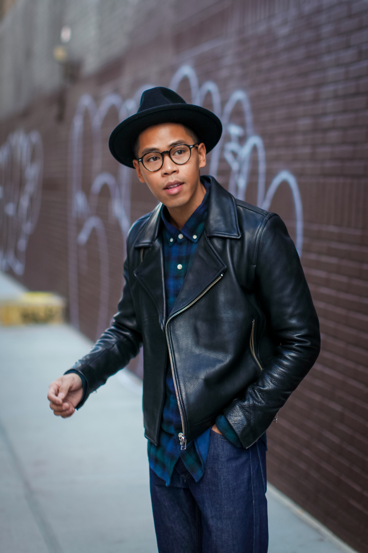 how to style a leather biker jacket