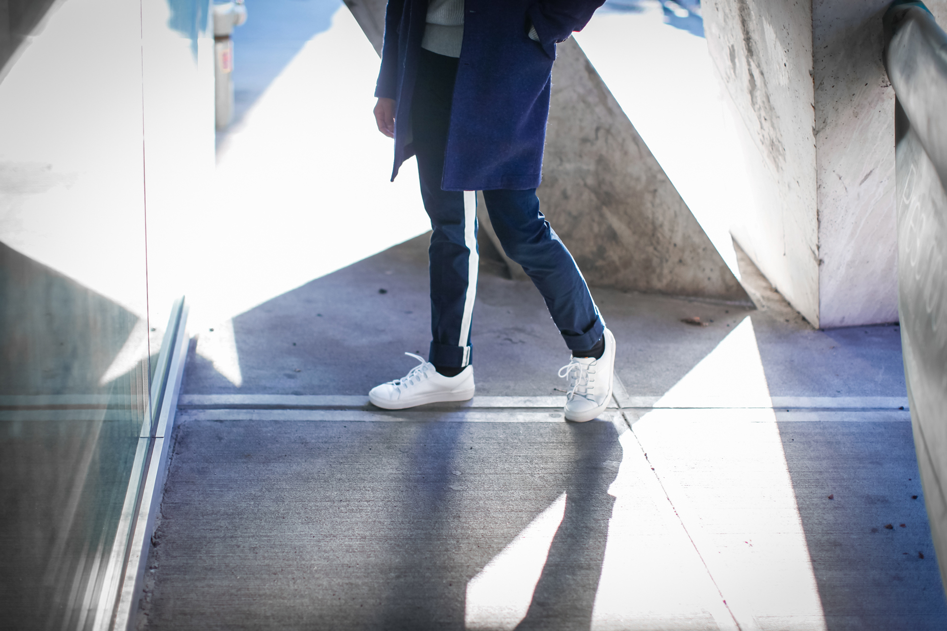 how to wear all navy