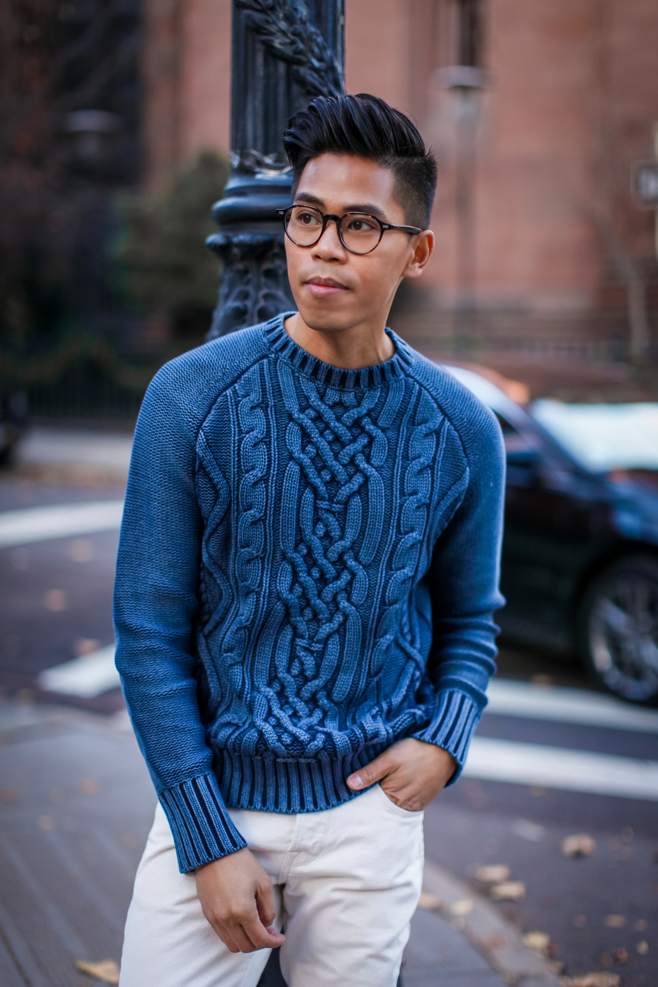 mens nautica cable knit sweater
