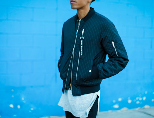 how to wear a bomber jacket street style