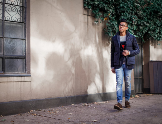 mens layered outerwear look
