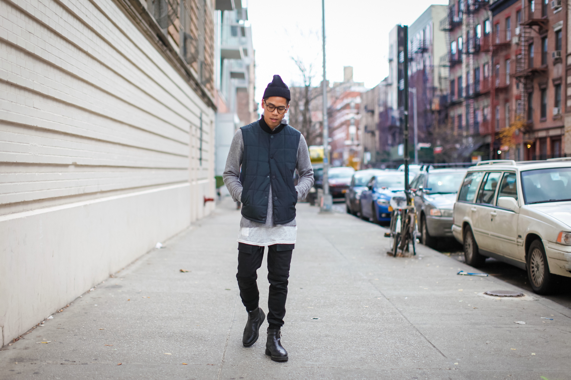 mens streetwear outfit blogger