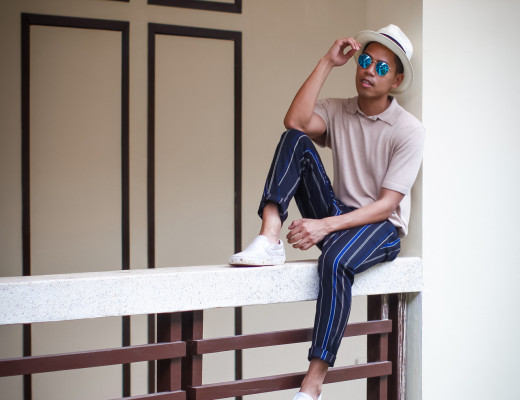 how to wear striped pants for men