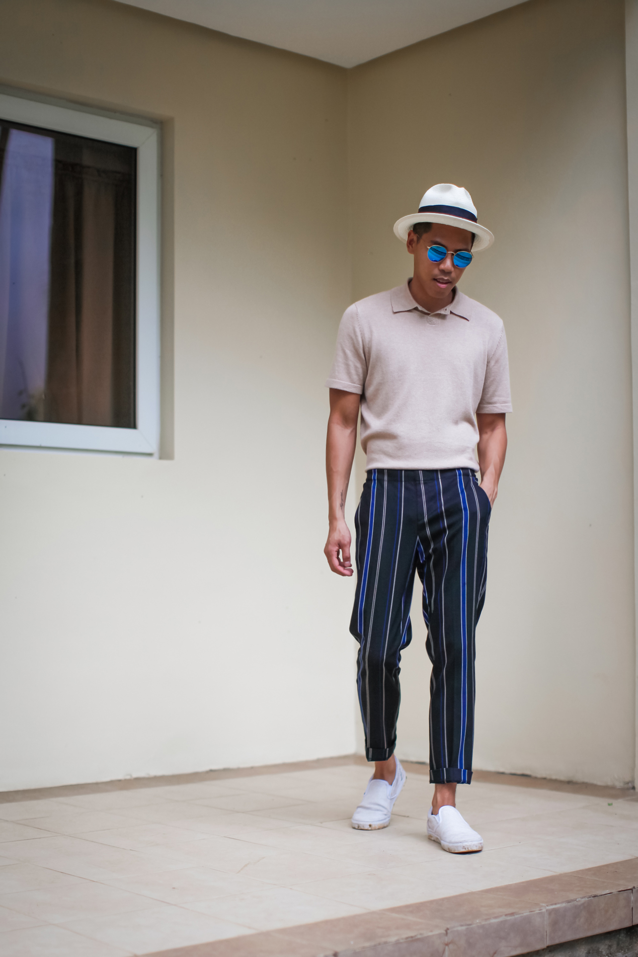 men how to style striped pants