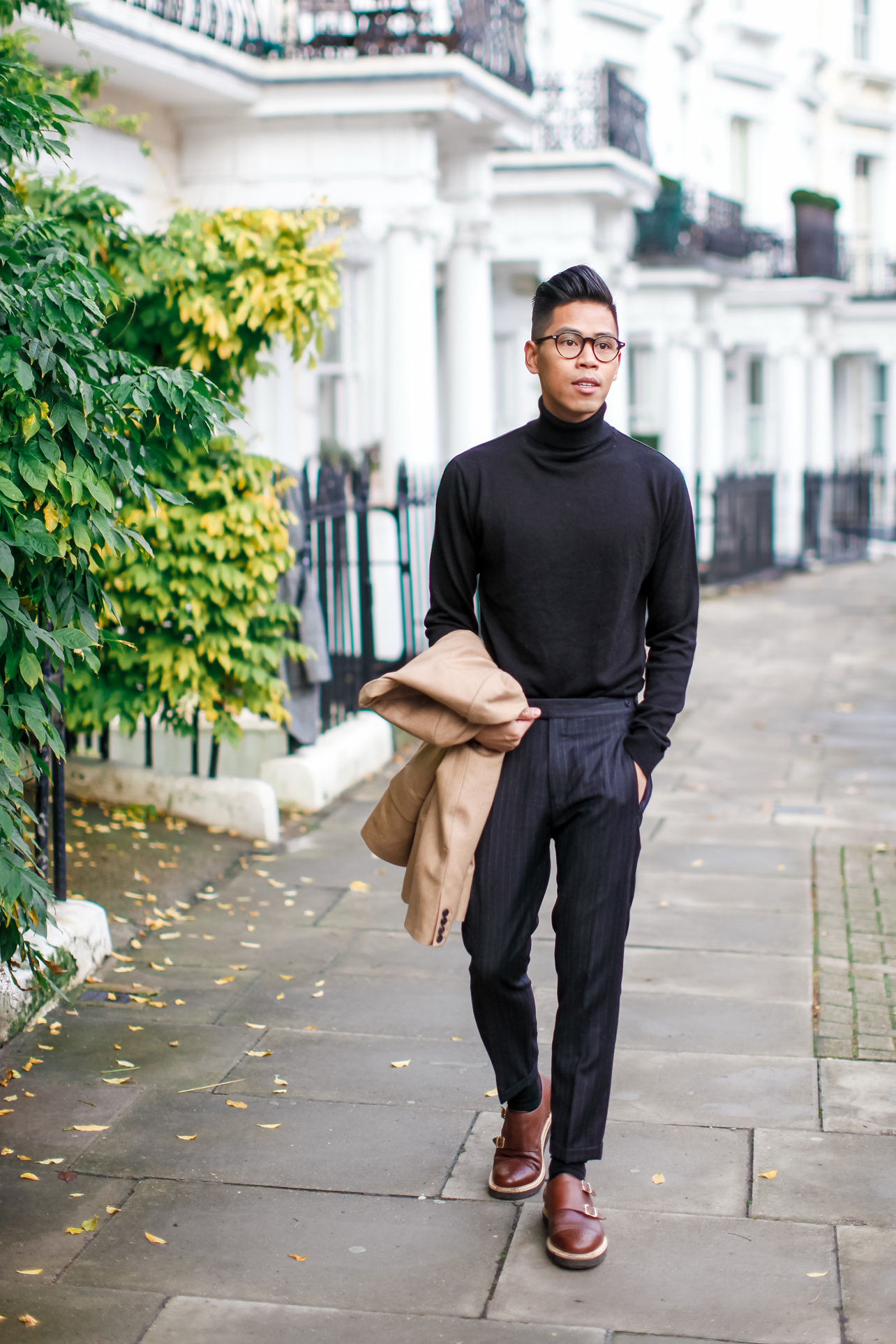 mens turtleneck with blazer