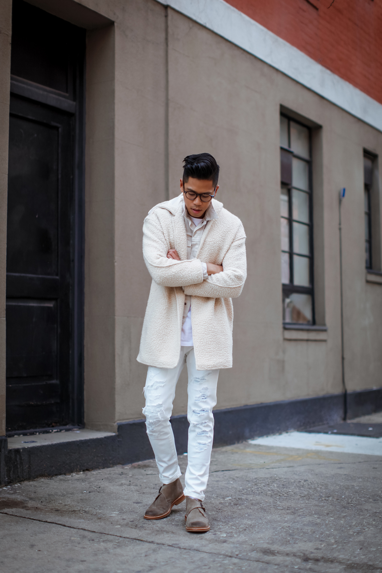 all white everything outfit