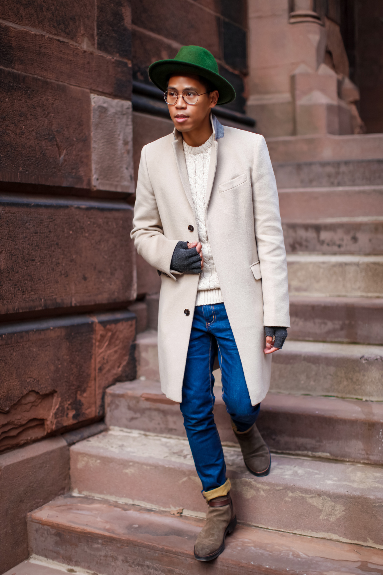 what to wear with a camel coat
