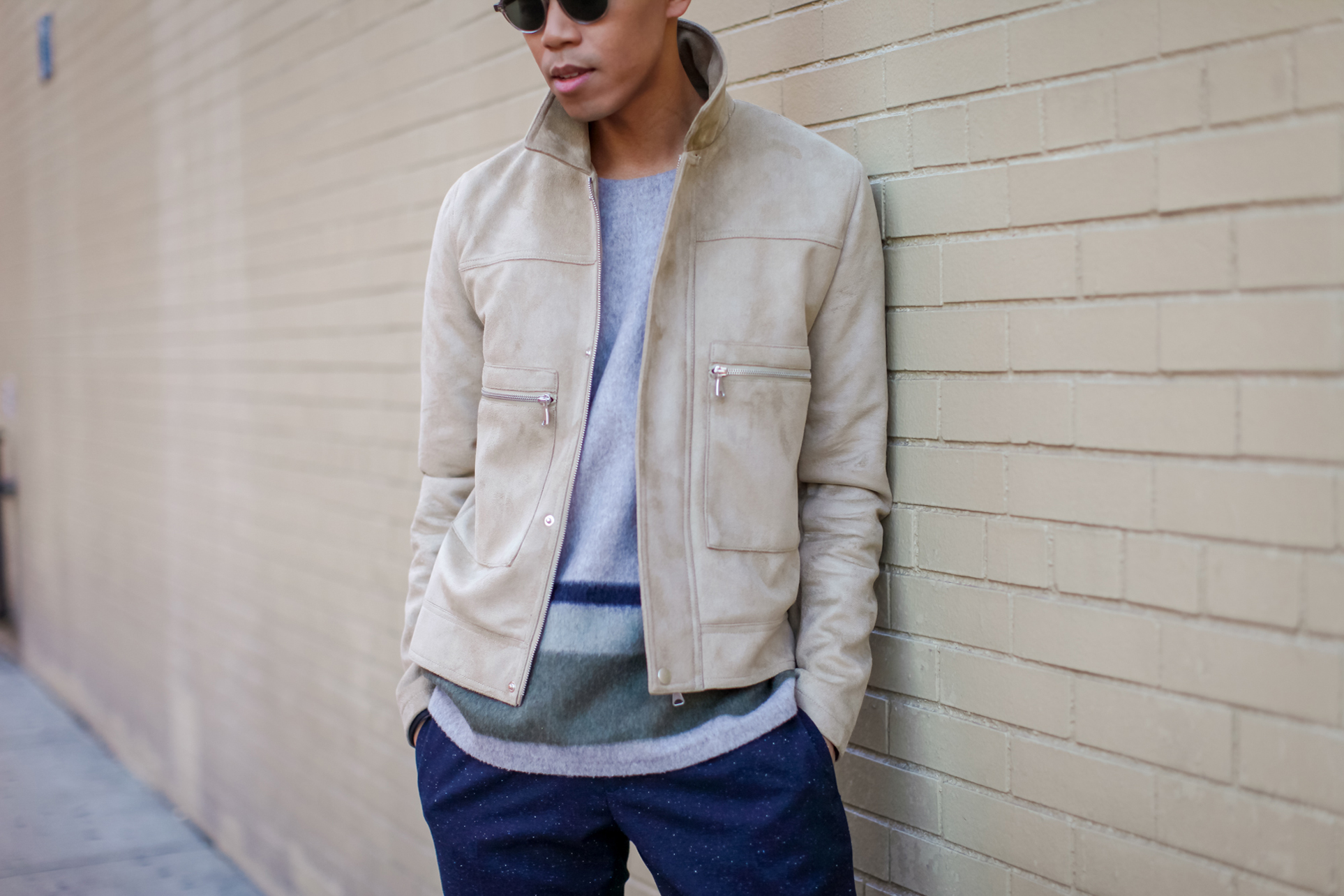 asos suede jacket for men