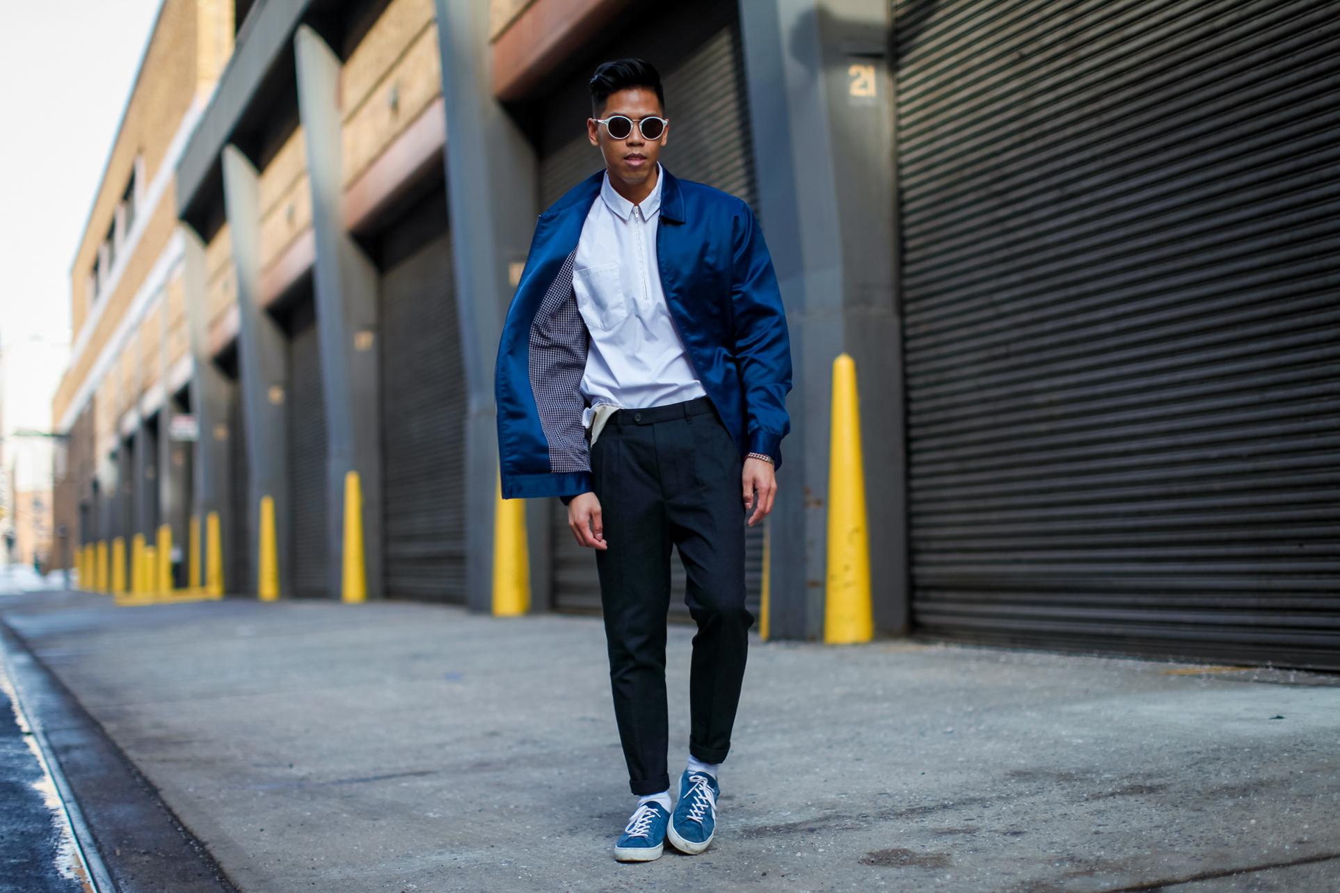 mens coach's jacket streetstyle