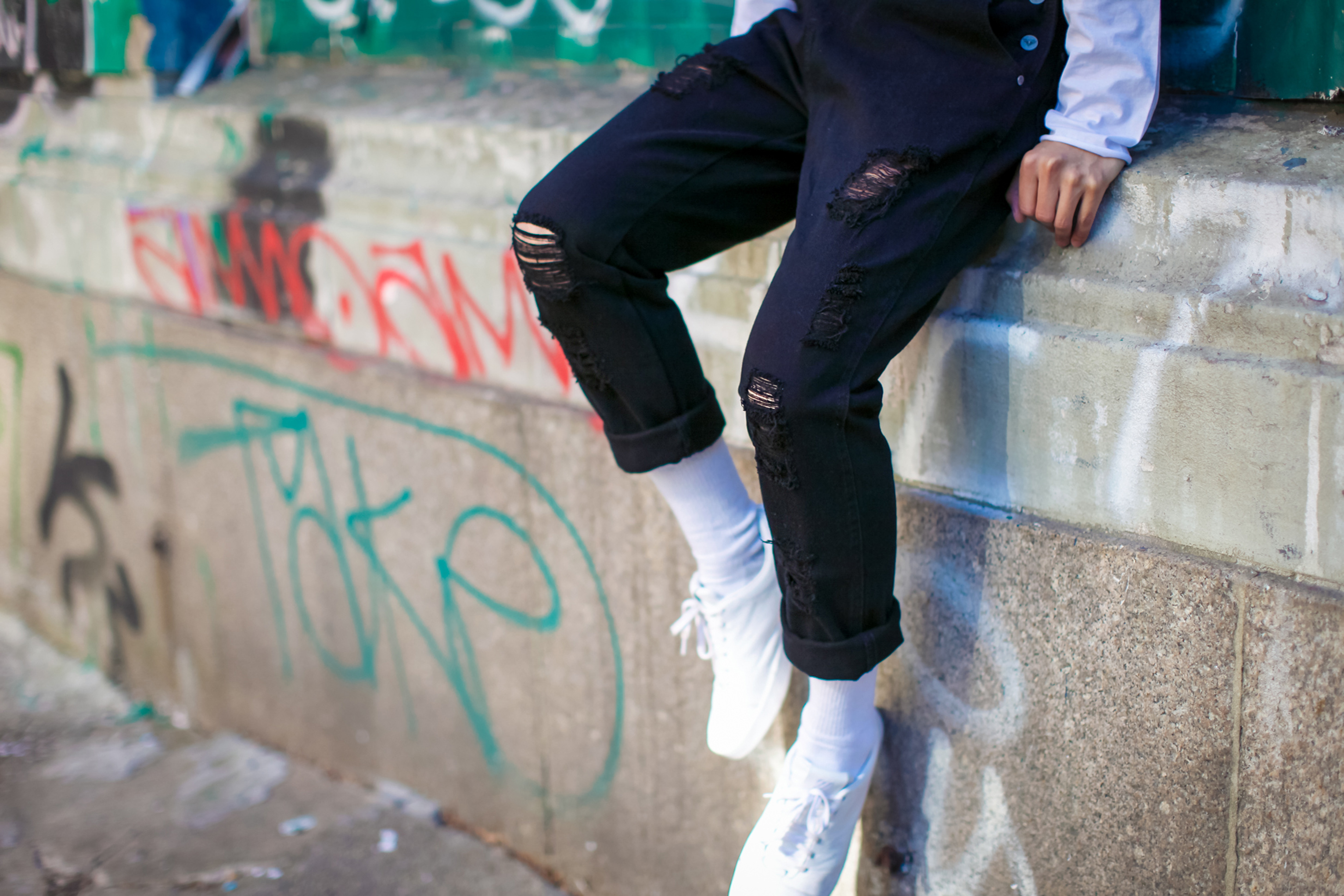 mens overalls street style