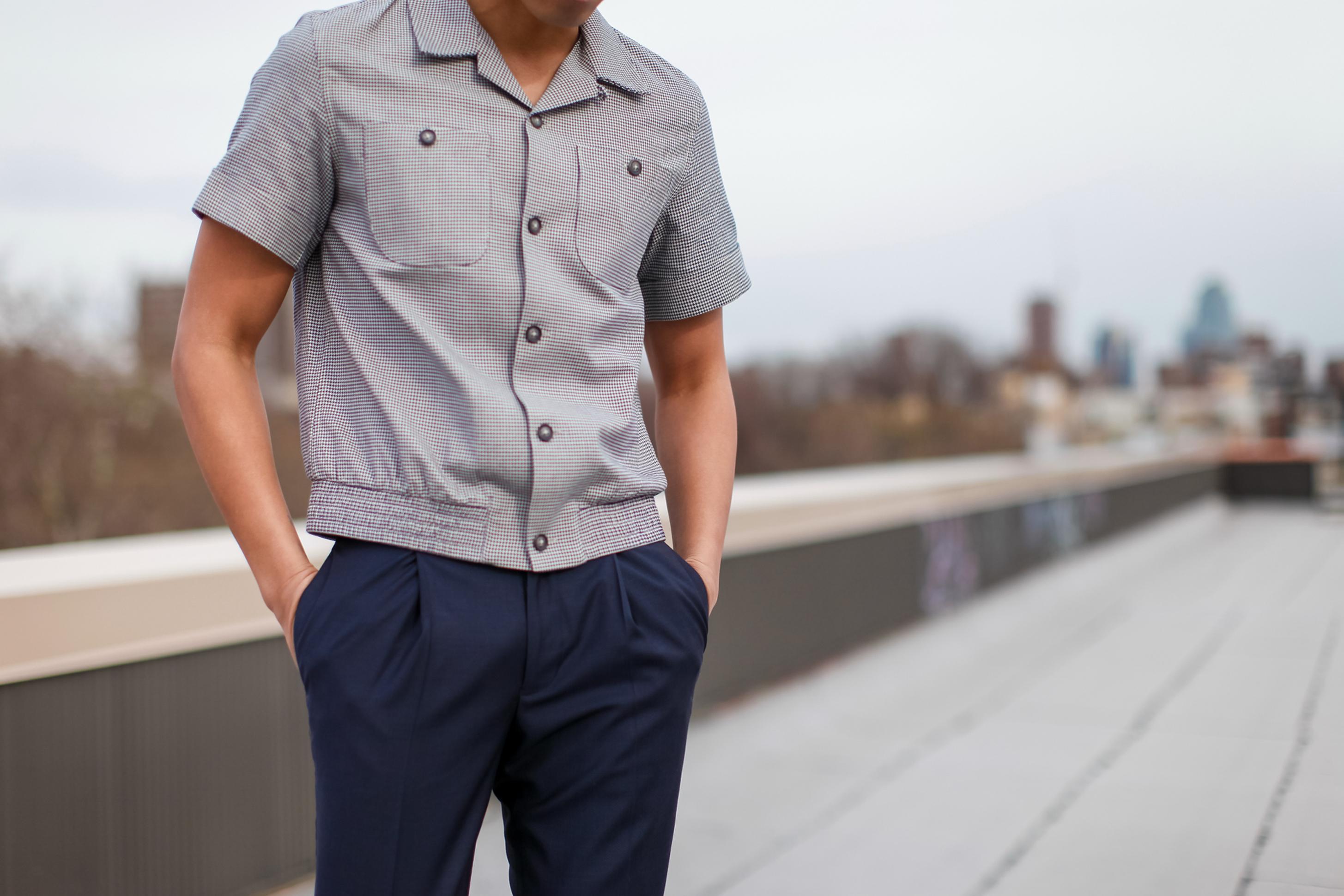 topman design revere collar shirt