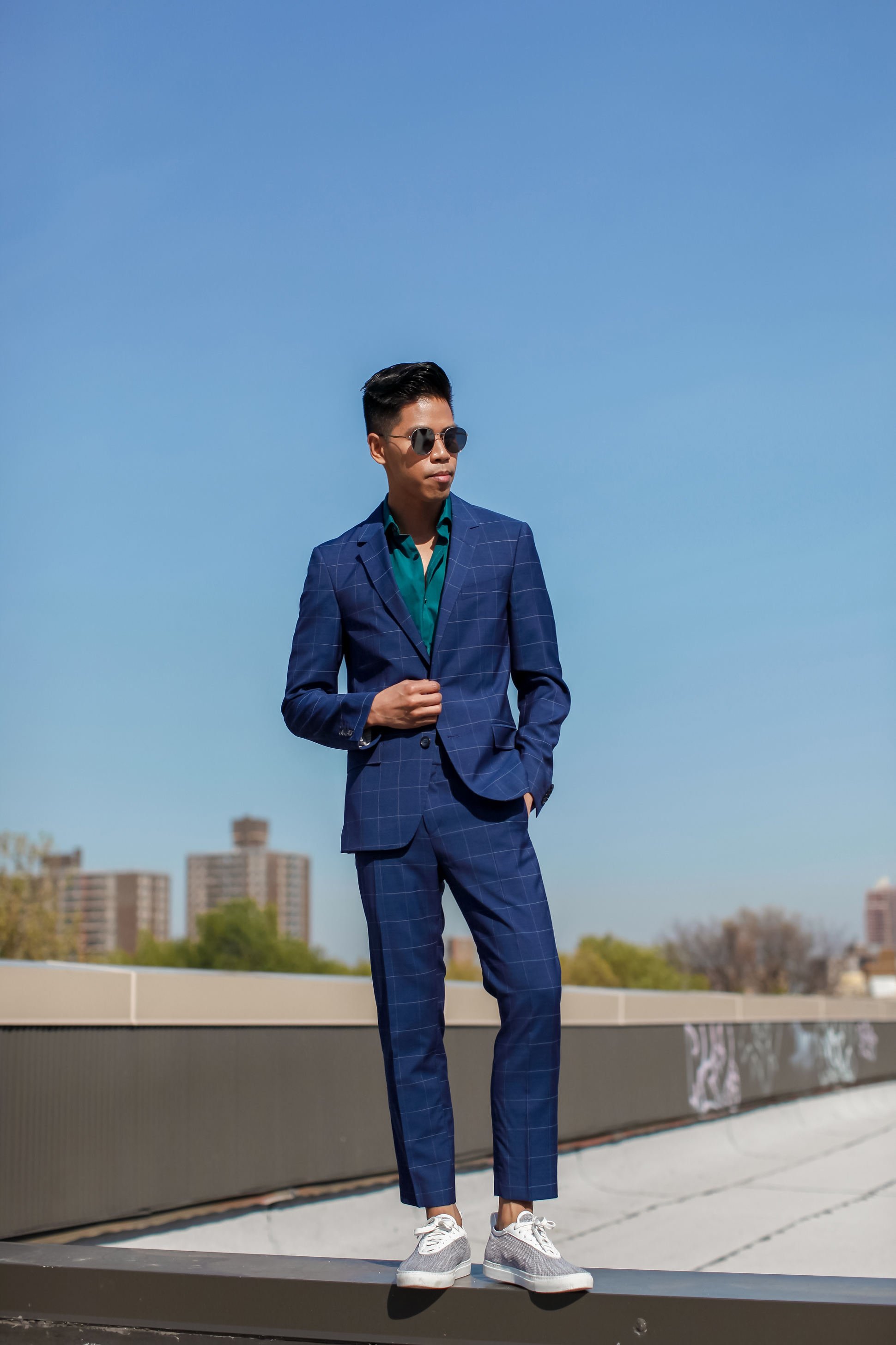 mens colored suit street style