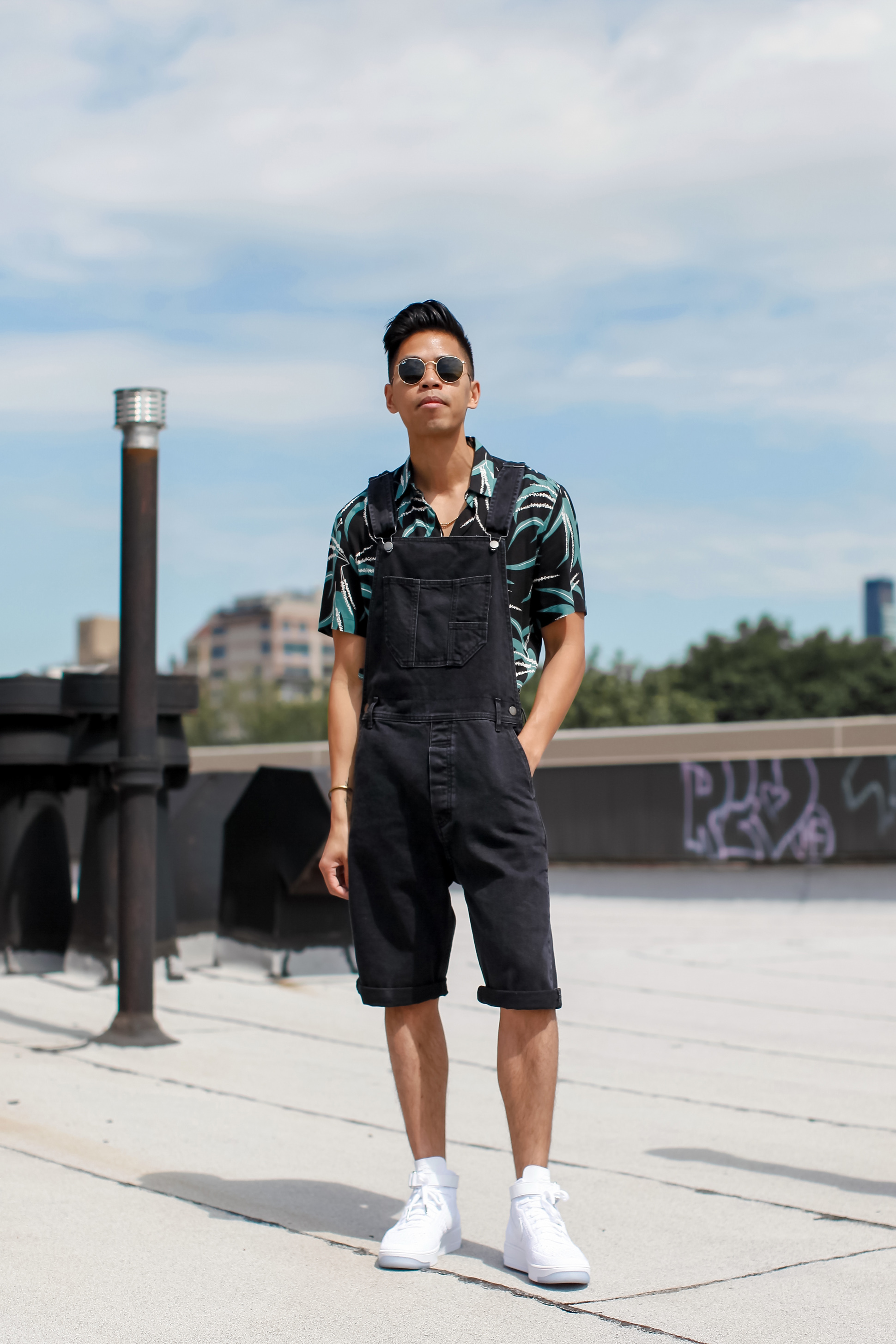 mens overall shorts