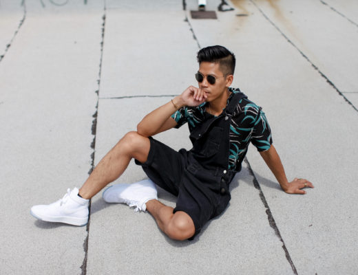 how to wear mens overall shorts street style