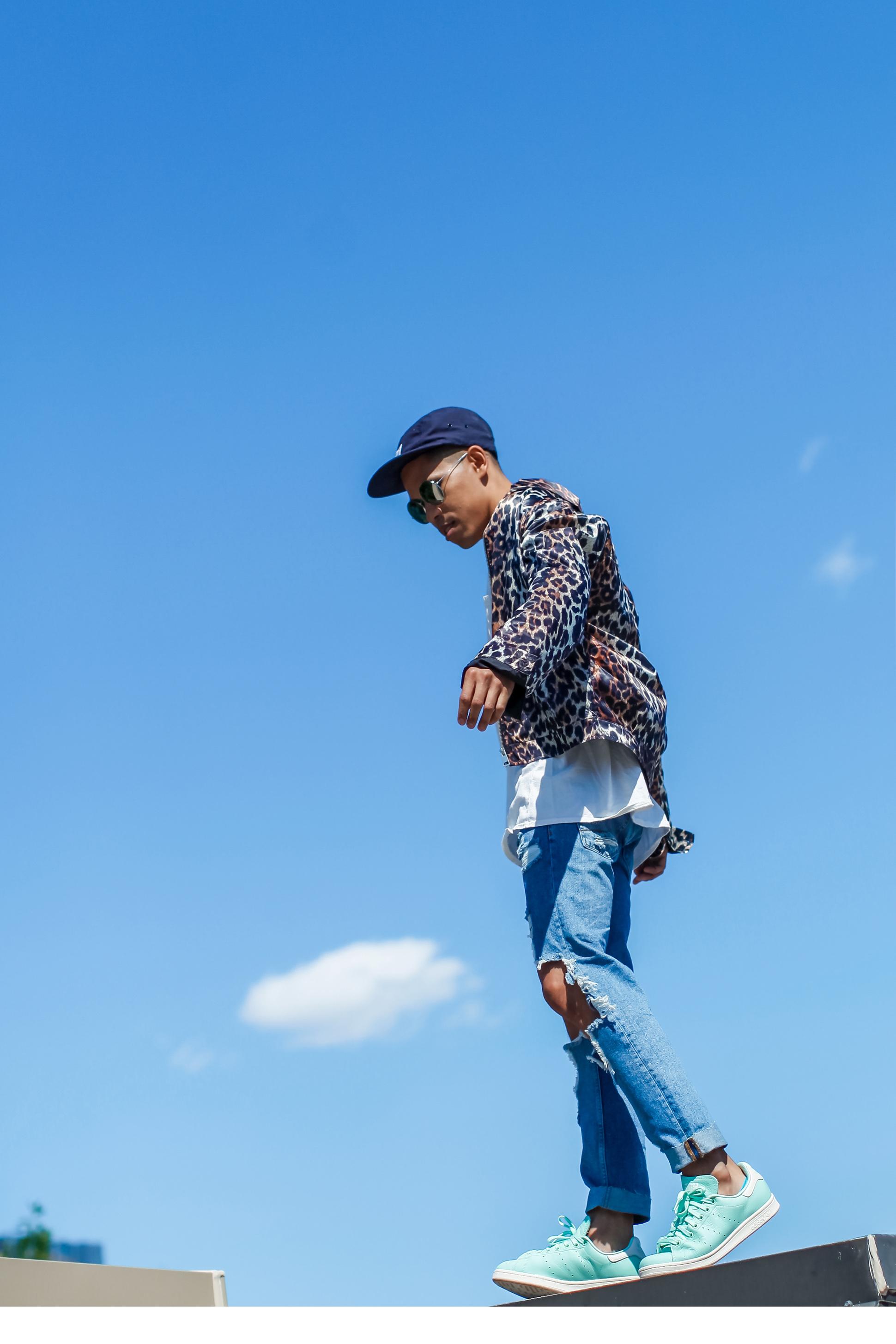 mens leopard print jacket street style