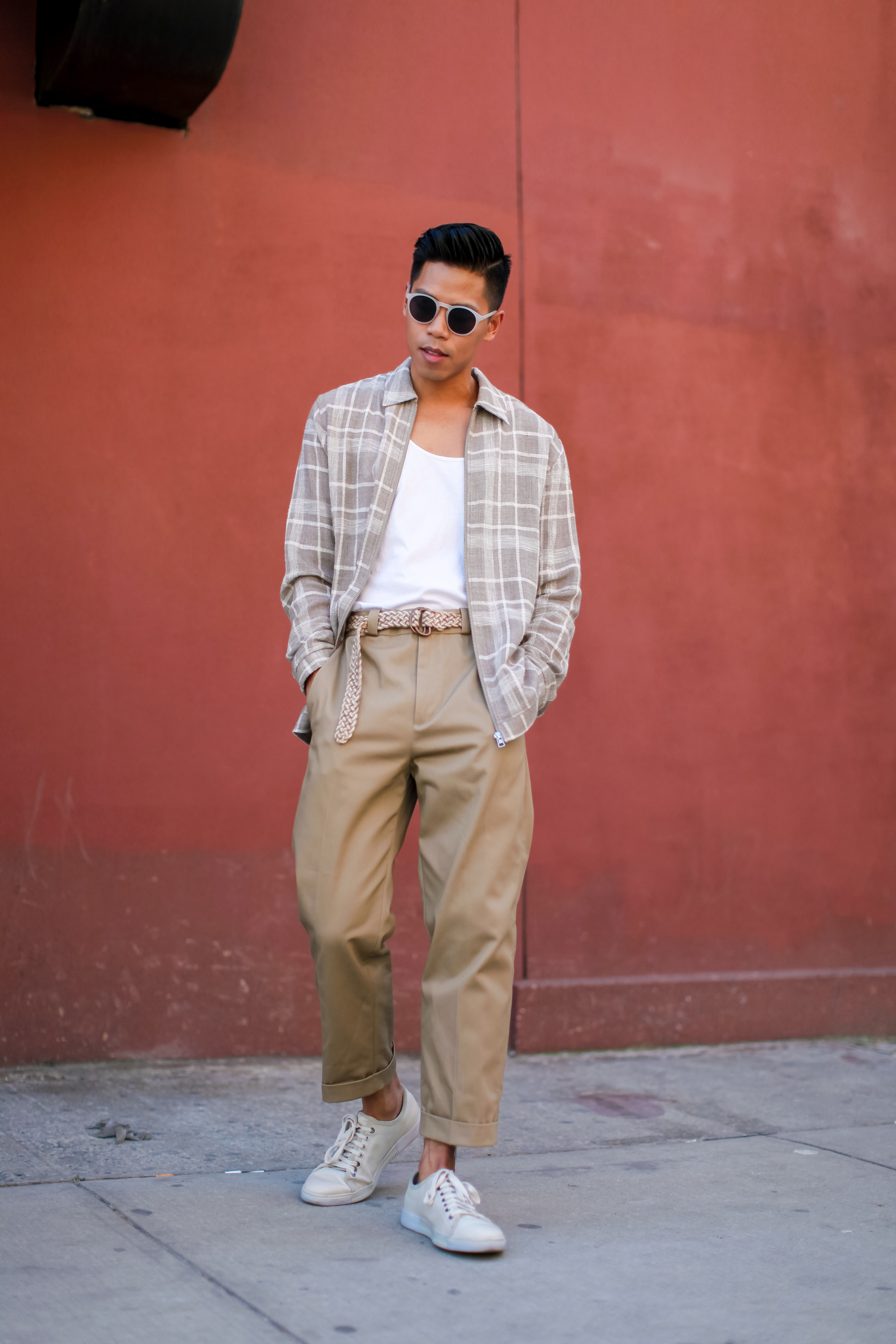 mens high waisted pants trend street style