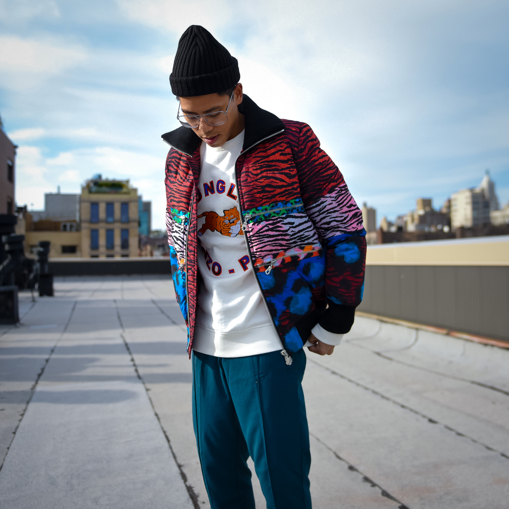 kenzo x hm mens street style lookbook blooger