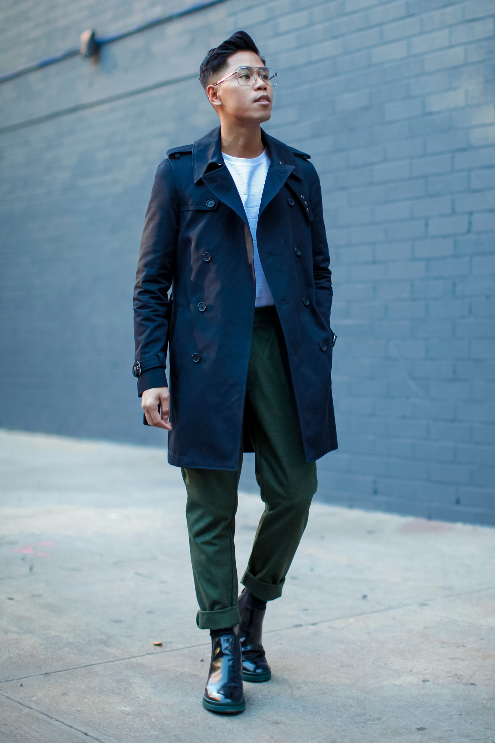 mens trench coat street style