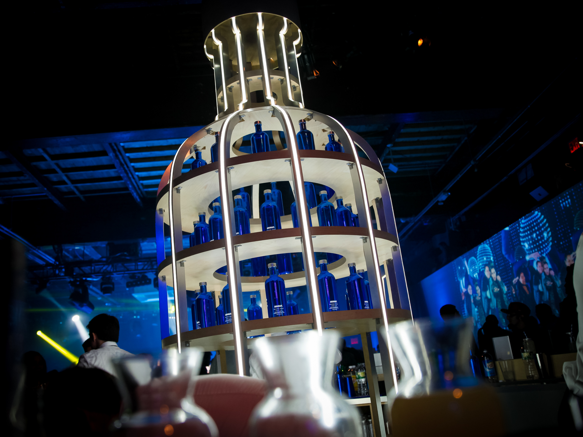 absolut electrik vodka holiday bottle