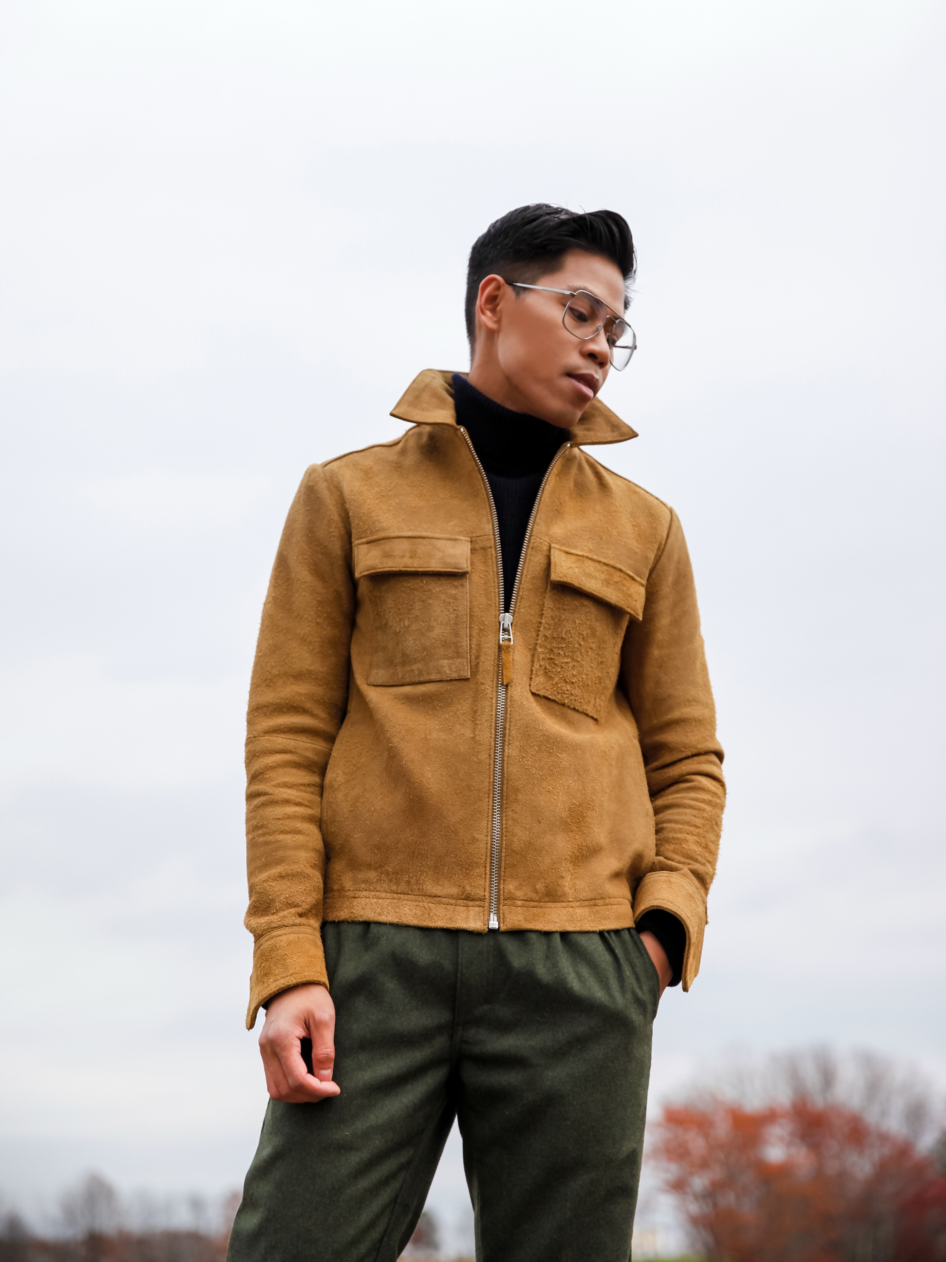 how to wear a suede jacket for men streetstyle