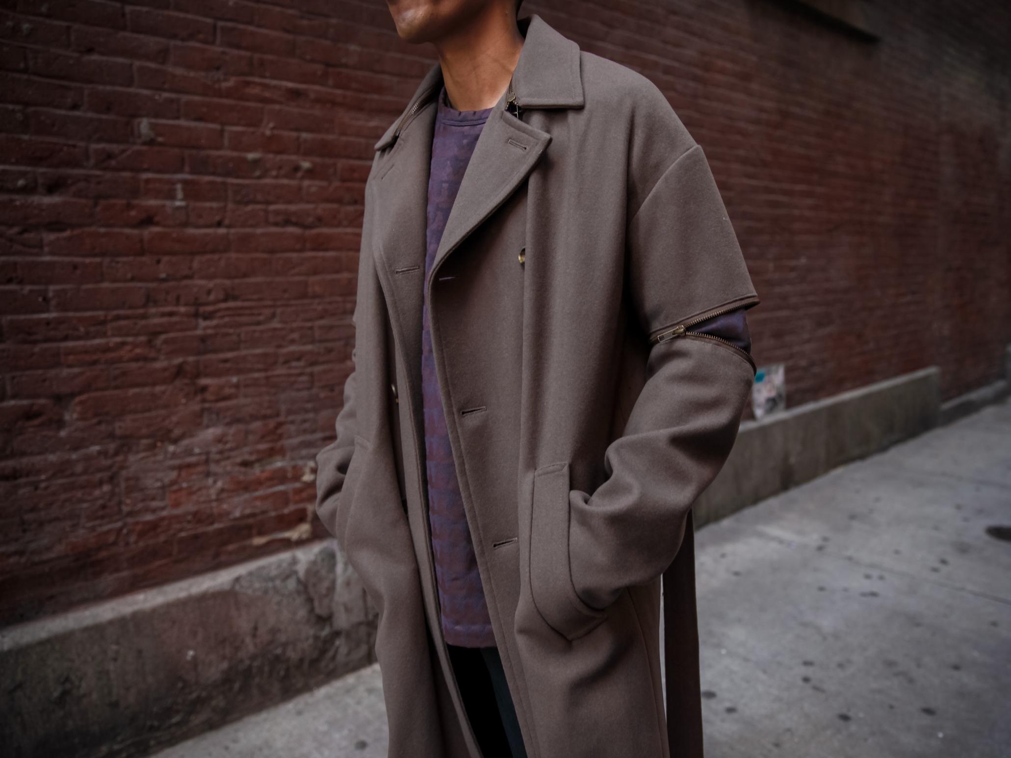robert geller zipper trench jacket