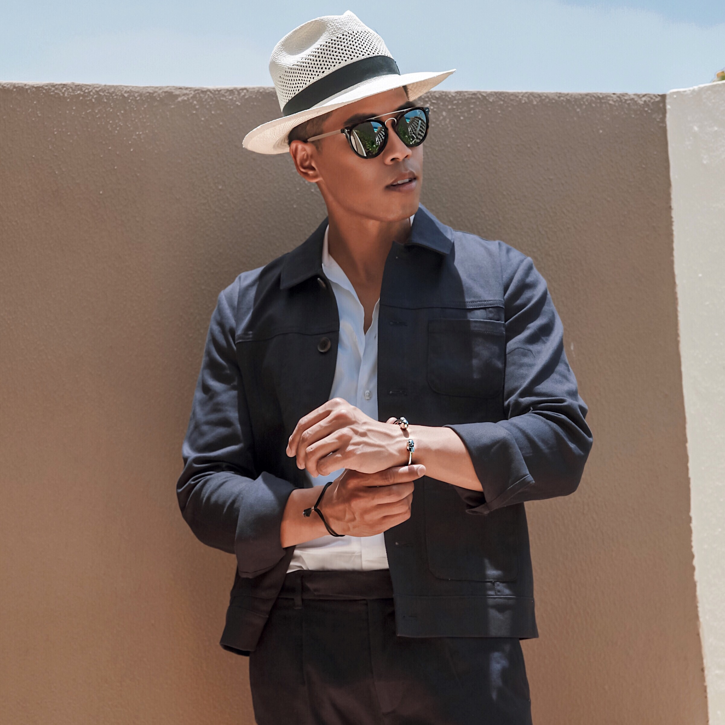men's summer vacation outfit