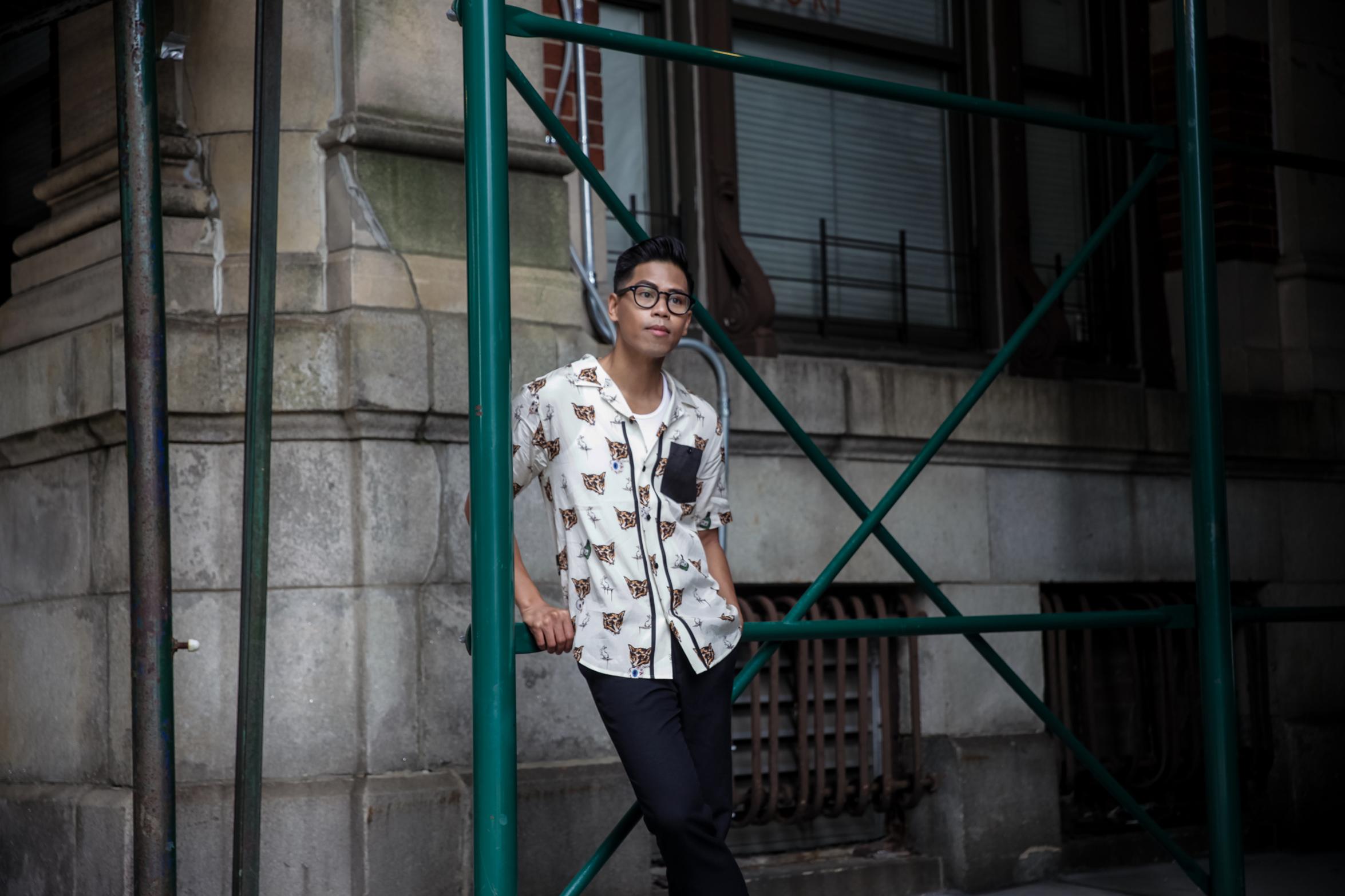 mens cuban collar shirt
