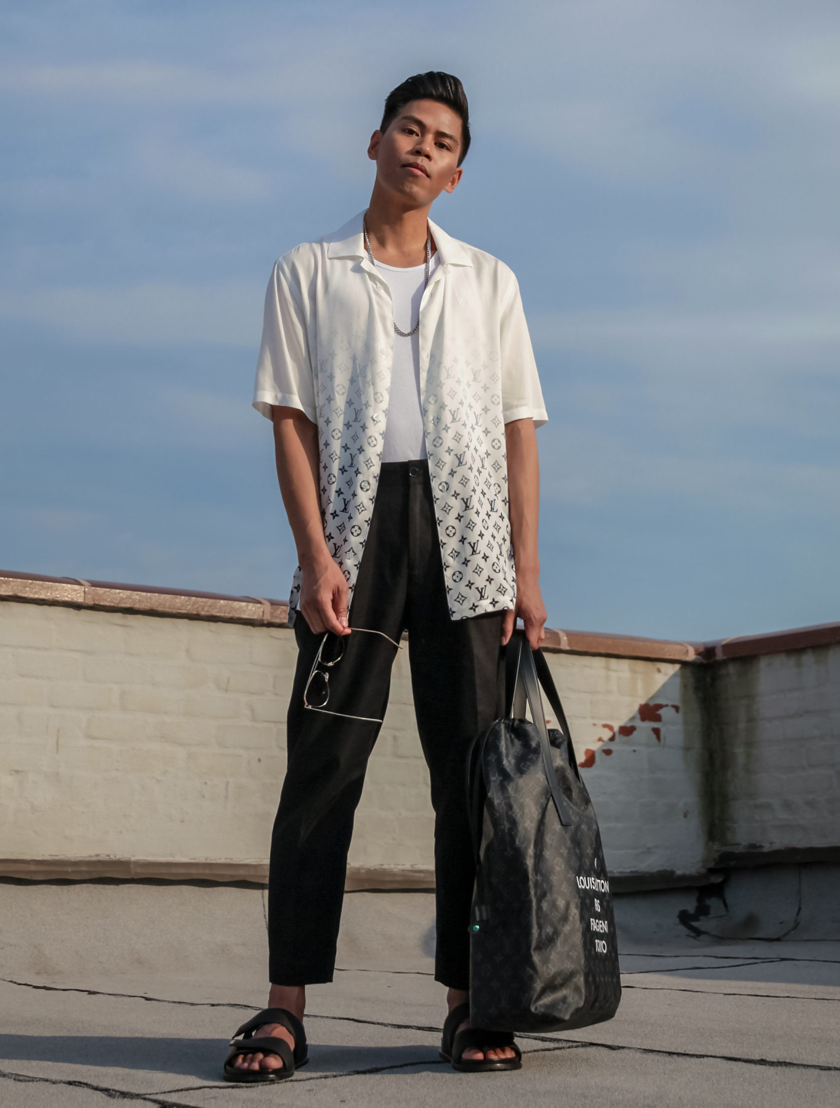 louis vuitton x fragment design lookbook street style blogger