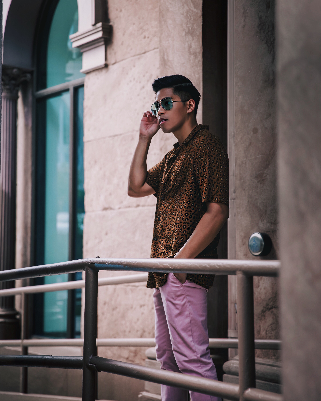 mens animal print leopard print shirt trend