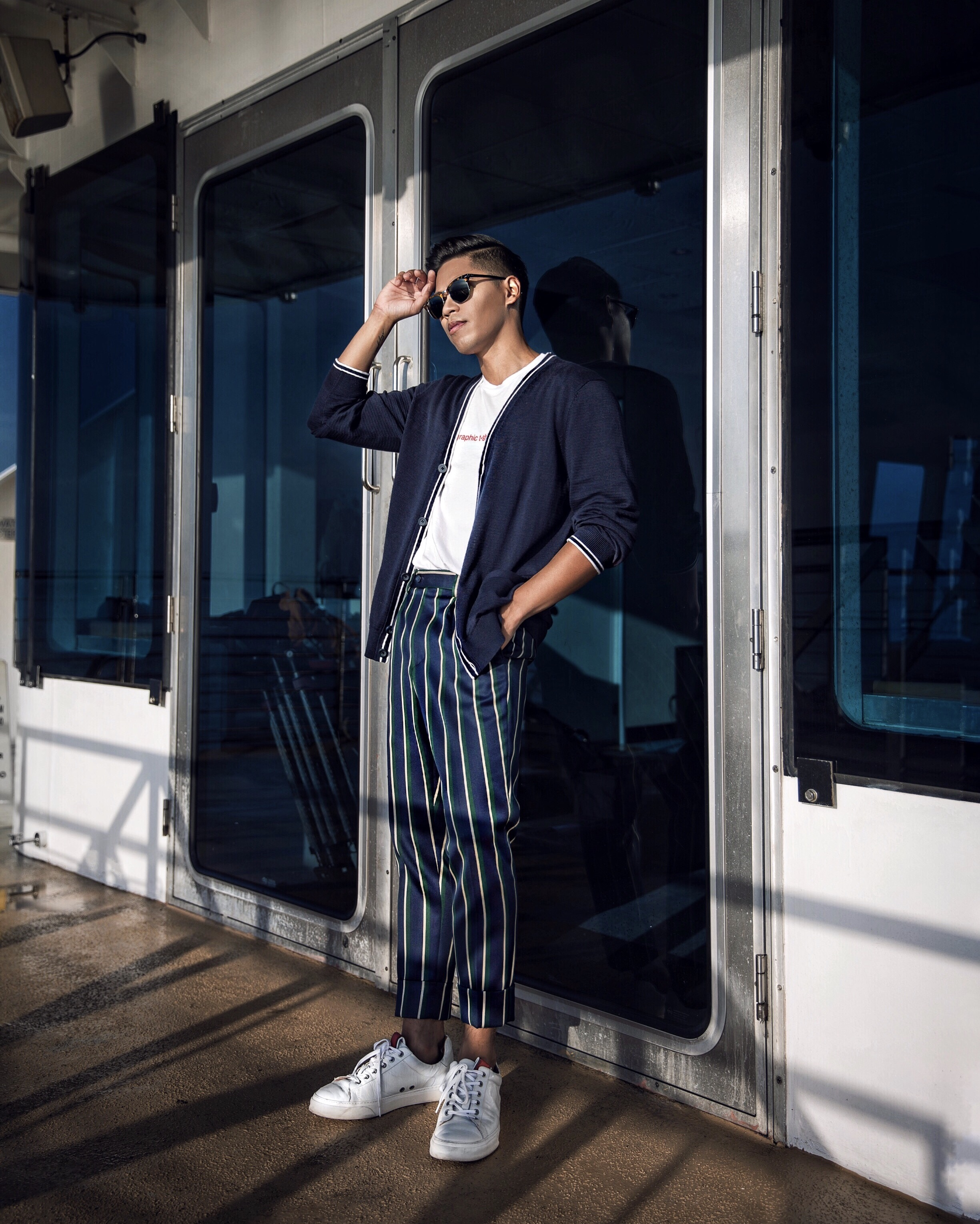 how to wear mens striped pants trousers