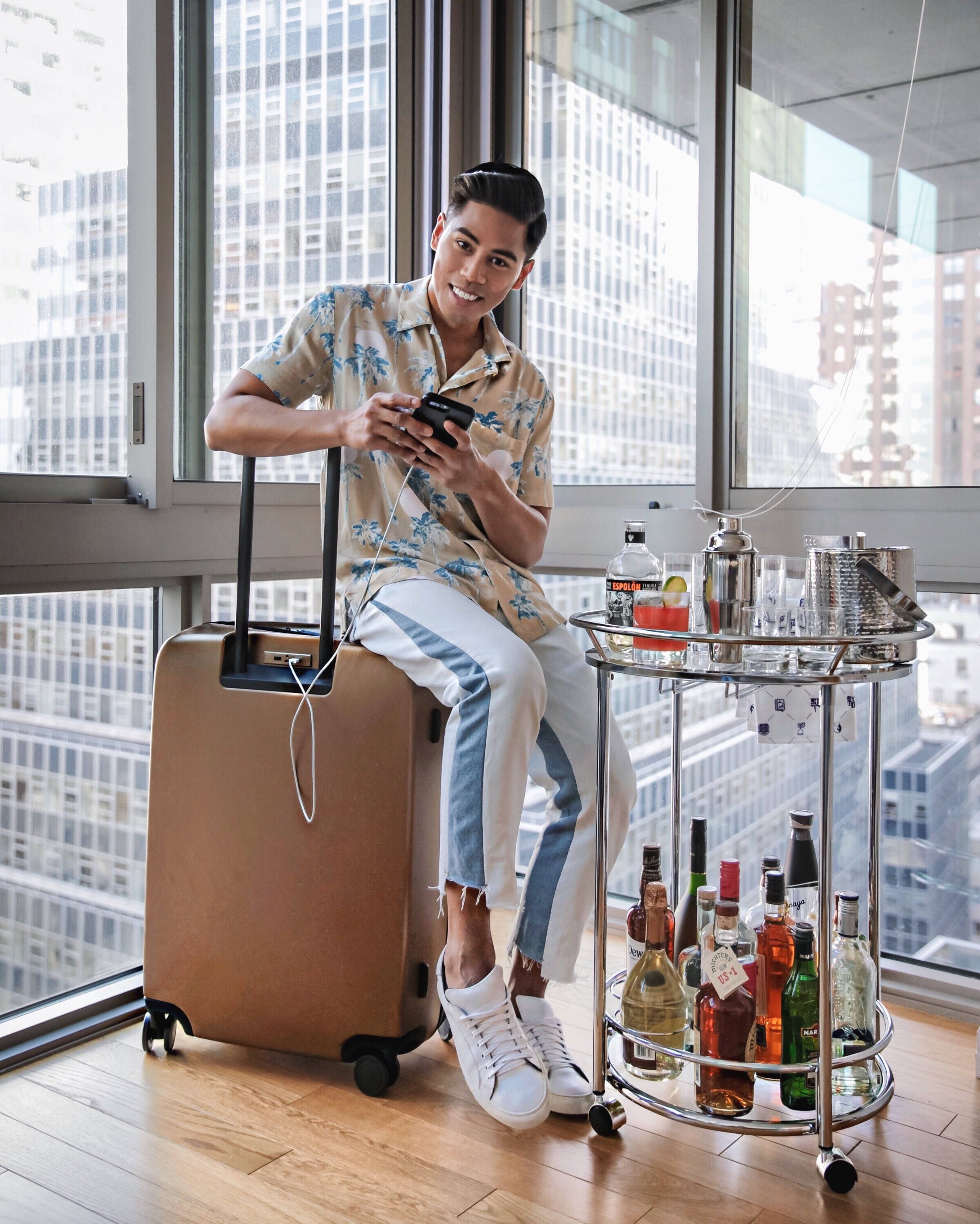 raden smart luggage pics blogger styled